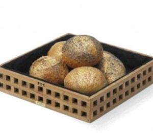 Gravering på brødkurv