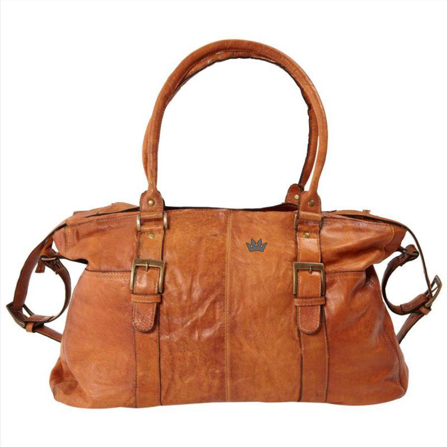 Gravering på lædertaske